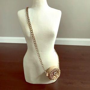 Loeffler Randall small leather purse w/chain link